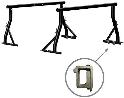 800lbs Capacity Truck Rack with 8 Non Drilling C Clamps Heavy Duty Extendable Universal Pickup product image