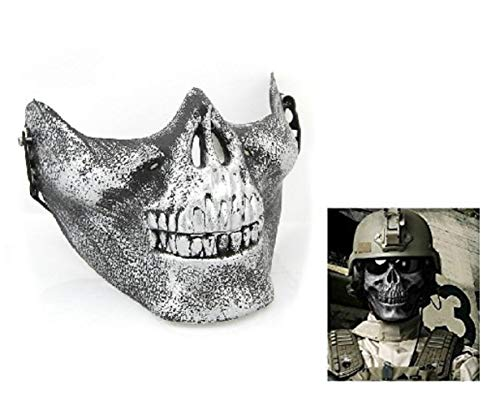 Zilveren masker - skelet - cs - - militair - vermommingen - halloween - carnaval counter strike army