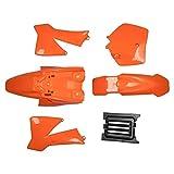 Carenado Completo Cuerpo de carenado Cubierta de Guardabarros Kit de Piezas Naranja Fit para KTM 50 SX 50CC 50SX Mini Stud Pit NIÑOS Ajuste para KTM50 Senior Junior JR SR SR (Color : Orange)
