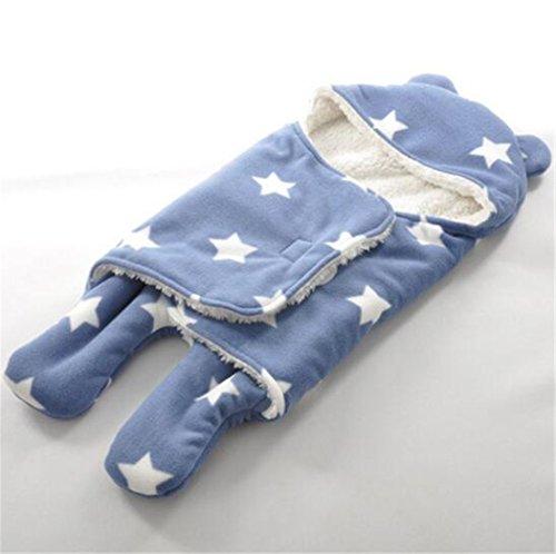 Gigoteuse d'emmaillotage-Turbulette Easy Swaddle Minky couverture (bleu)