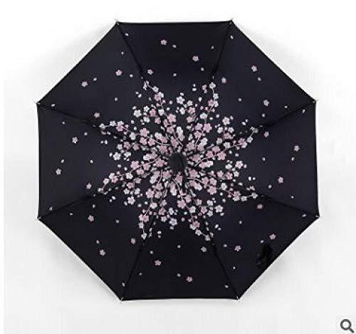 Powzz ornament Paragüero creativo soleado publicidad paraguas vinilo al aire libre sombra sol paraguas-Peach blossom_55cm* 8k