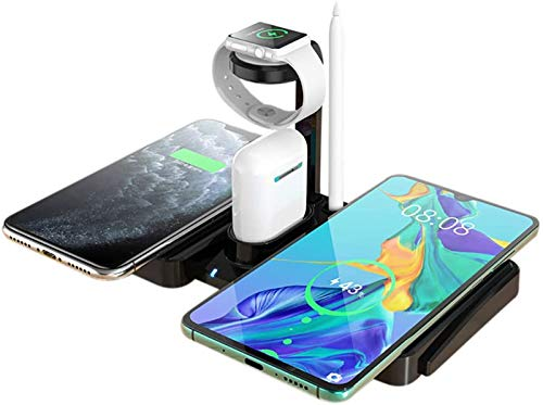 QAZXCV 4 in 1 Wireless Charging Station, for AirPods Pro and Apple Watch,Wireless Charger Dock for iPhone 11/11 Pro Max/XR/XS Max/Xs/8/8 Plus/Samsung/Andriod Phones