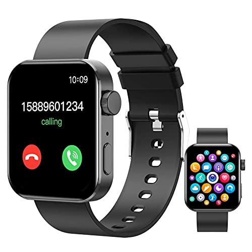 QIXIAOCYB Smart Watch - Bluetooth Smart Watch Support Make/Antwort-Telefone Senden/Erhalten von Nachrichten Kompatibel Android iOS-Telefone Sportuhr mit Herzfrequenz-Schlaf-Blut-Sauerstoff-Blutdru