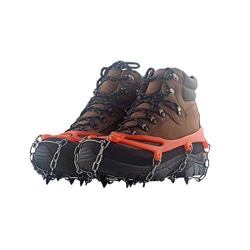 Meijunter Acier Inoxydable 10 Dents Glace de Neige Chaussures de randonnée saisies Crampon Housse de Chaussure