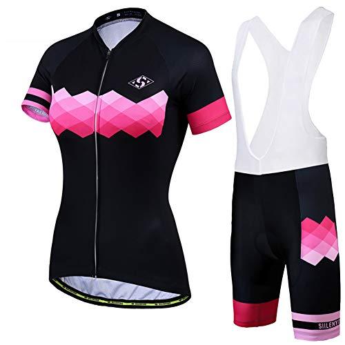 XHXMM Traje Ciclismo Mujer para Verano, Ciclismo Maillot y Culotte Ciclismo Culote...