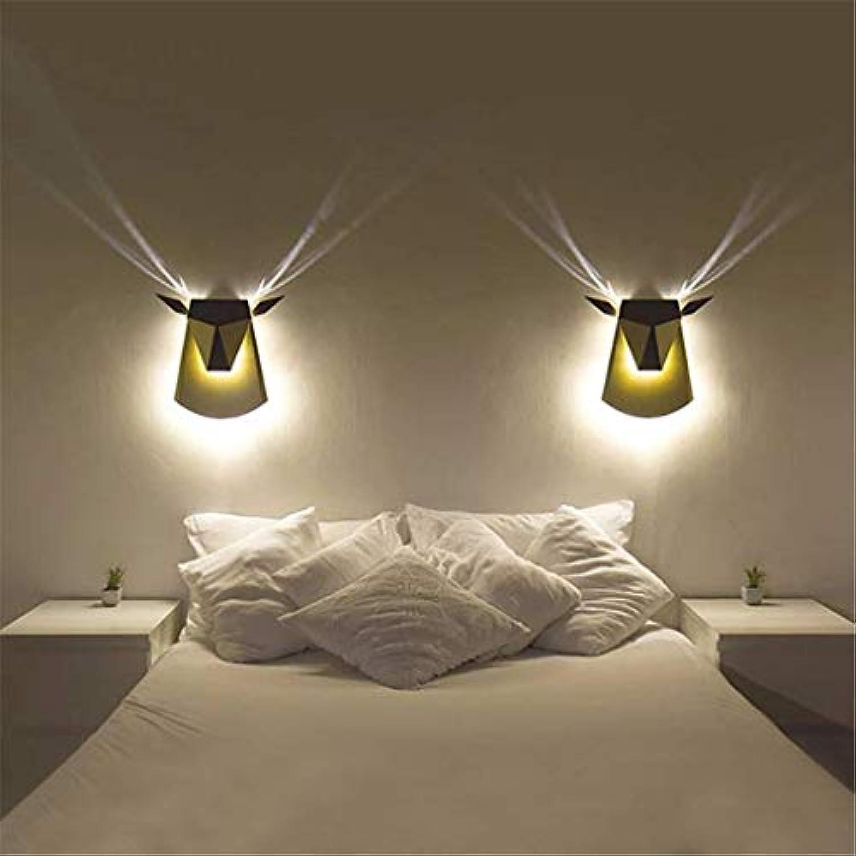 Xiao Yun   Wandleuchte Moderne Antlers Wandleuchte Wash Lampe Eisen Farbe Schatten LED Spot Beleuchtung Für Schlafzimmer Nacht Wohnzimmer Hotel Korridor, Gold