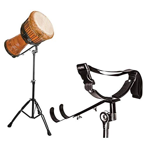 Heavy duty, Fits all diameter of Djembe and Didgeridoo Height and the play angle is adjustable. Chrome plated steel ,rubber padded,double braced tripod legs, the holding section is padded and protects the Djembé or Didgeridoo from scratches Folds for...