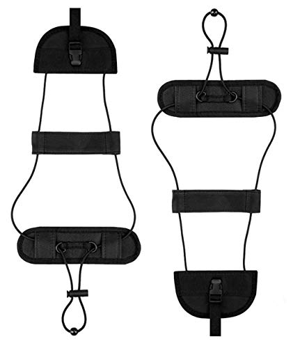 Luggage Straps Bag Bungee - 2 Pack Luggage Bungee Strap Add a Bag - Lightweight and Durable Elastic Strap for Extra Luggage Adjustable Belt Travel Accessories - Black
