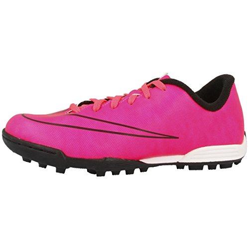 Nike JR Mercurial Vortex II, Botas de fútbol Niños, Hyper Pink Hyper Pink Black Black 651644 660, 35 1/2
