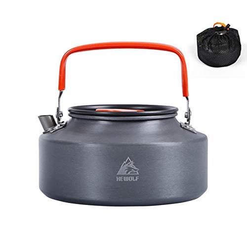 Caldera de camping, 1,6 l al aire libre cafetera de agua con mango senderismo supervivencia utensilios de cocina para acampar mochilero picnic