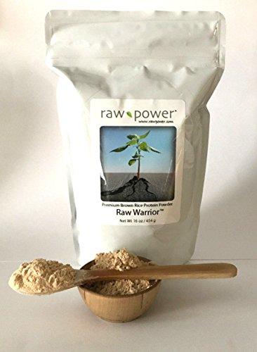 Raw Warrior Brown Rice Protein Powder, Raw Power (16 oz, Premium)