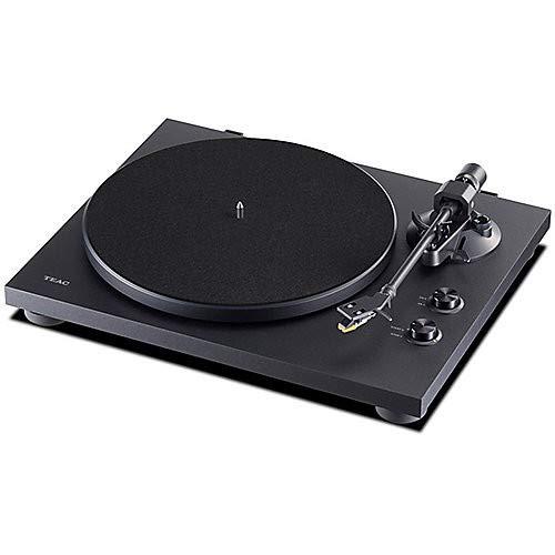 Teac TN-280BT(B) Platine vinyle Hifi avec émetteur Bluetooth pour haut-parleurs et écouteurs, (Plateau aluminium, entraînement par courroie, préampli phono MM), noir