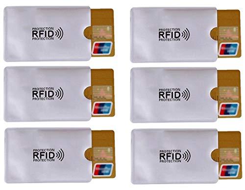 RFID Schutzhüllen (6 Stück) Kreditkarten NFC Schutz EC Karten Hülle Blocker