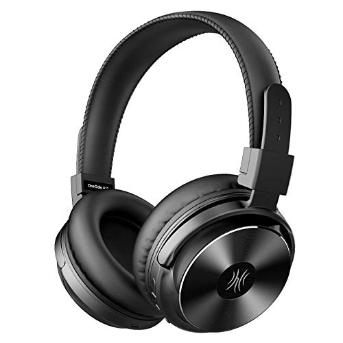 Bluetooth Headphones, Wireless Noise Cancelling Over Ear Headphones with Bass Up EQ Mode HiFi Stereo Sound CVC8.0 Microphone Headphones Compatible for Travel, Home Office Foldable Comfortable