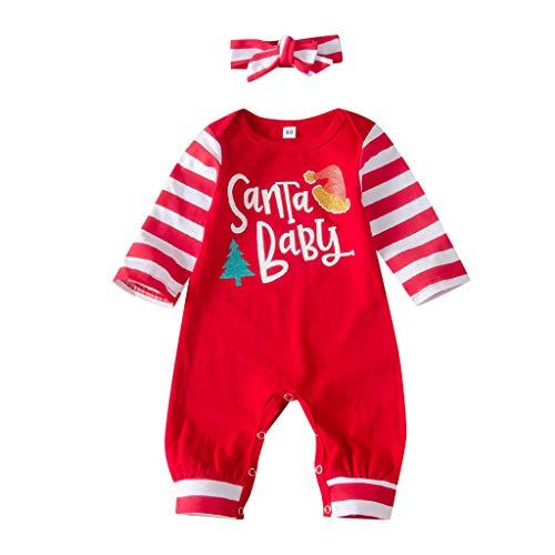 Santa Baby Neugeborene Baby Weihnachten Strampler Langarm Frohe Weihnachten Overall...
