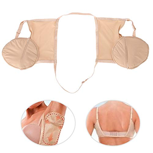 ZJchao Sweat Underarm Pads Bra for Women,Absorbent Sweat Guards Reusable Cotton Armpit Durable Anti-Sweat and Anti-Odor