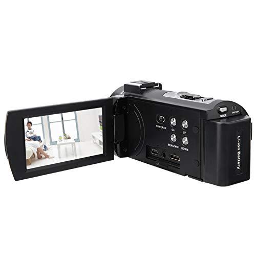 Cámara de Video, Zoom Inteligente 16X Cámara Digital con rotación de 270 Grados, 60 Cuadros de fotografía de Alta Velocidad para Piezas de cámara Accesorios de(Standard + Battery)