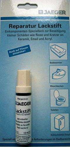 Jaeger Reparaturstift Lackstift für Keramik, Email, Acryl - Farbe PERGAMON, 12 ml
