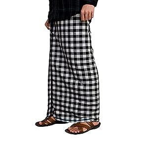 Riyashree men's cotton lungi for men free size traditional south Indian lungies dhoti mundu 2 meter MENLUNGIGR