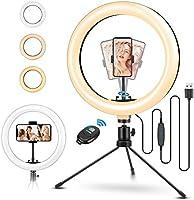 ELEGIANT Pierścień do fotografowania na statywie, 10,2-calowa lampa pierścieniowa do selfie z pilotem 120 diod LED 3...