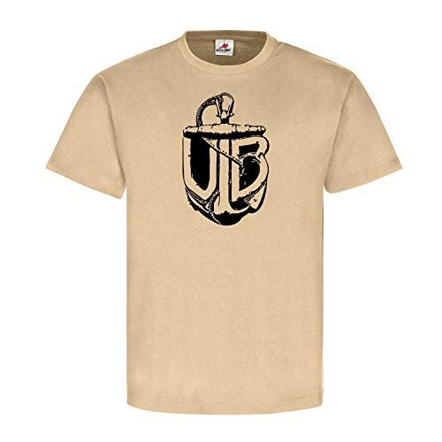 K&K UB Abzeichen U-Boot Österreich Adria Flotte Orden Triest Marine T-Shirt#23119, Größe:XL, Farbe:Sand