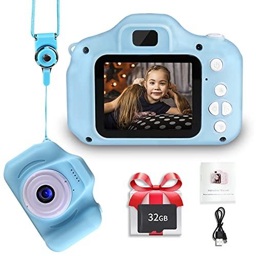 Fotocamera Digitale per Bambini, 2.0 IPS pollici per 3-8 anni
