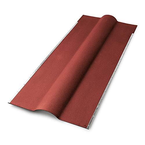 Firsthauben für Bitumenwellplatten - rot mit Metallkante 850 mm