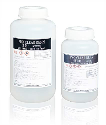 SEIKOH プロクリアレジン 1440gセット 100:44 主剤 硬化剤セット 2液性レジン レジンテーブル エポキシ樹脂 エポキシレジン 大容量 業務用 PCR1000