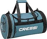 Cressi Unisex– Erwachsene Rantau Bag Zylindrische/Faltbare Sporttasche, Grün/Schwarz, 55x30x30