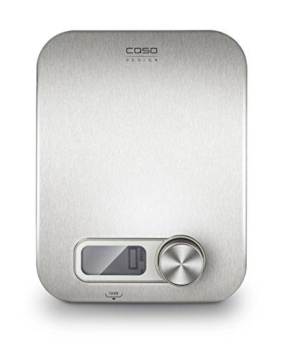 CASO Kitchen Energy Design Küchenwaage, digitale Küchenwaage, batterielose Nutzung durch kinetische Energie, umweltschonend und nachhaltig, bis 5 kg in 1 g-Schritten, edelstahl