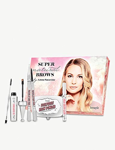 Benefit Super Natural Brows by Anna Saccone! Foolproof Brow Powder, Precisely Eyebrow Pencil, 3D BROWtones, High Brow Glow & Brow Blender! Best Eyebrow Makeup Set!