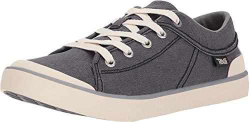 Teva Women's W Freewheel Washed Canvas Shoe, Black/Grey, 5 M US