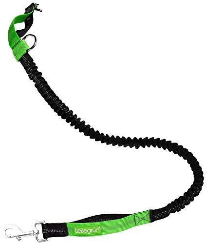 Leisegrün Bungeeteil für Joggingleine | Verlängerung für Hundeleine | für kleine Hunde bis 15 kg mit Gummizug und 2 Schlaufen