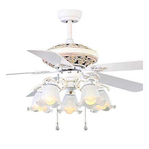 Iluminación de interior Retro, luces LED blancas, lámpara de techo, ventilador minimalista, sala de estar, comedor, techo, lámpara de techo, luces de ventilador Ventiladores para el techo con