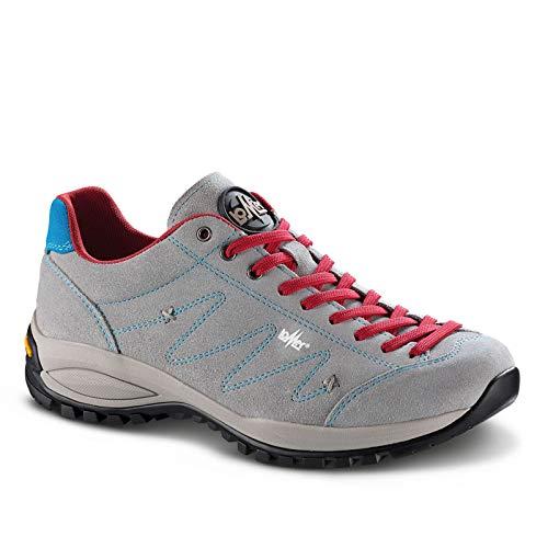 Lomer Schuhe Janko Suede Scarlet/White, Grau - Cemento - Größe: 36 EU