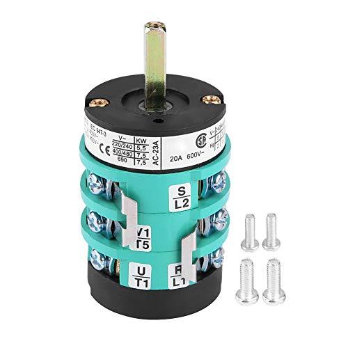 KIMISS Interruptor del cambiador de neumáticos, motor de la máquina del cambiador de neumáticos 220V / 380V Interruptor de avance hacia atrás Interruptor del pedal de la mesa de giro (20A (B))