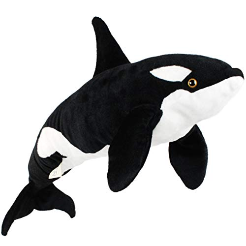 Octavius The Orca Blackfish - 27 Inch Long Big Killer Whale Stuffed Animal Plush - by Tiger Tale Toys