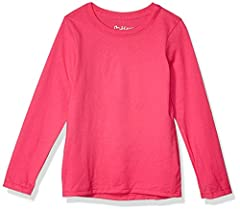 Flattering, feminine fit Pre-shrunk 100 percent cotton for a perfect fit wash after wash Perfect for layering or wearing alone Available in a variety of colors Tag-free for added comfort