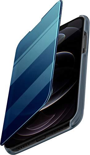 moex Dünne 360° Handyhülle passend für iPhone 12/12 Pro   Transparent bei eingeschaltetem Bildschirm - in Hochglanz Klavierlack Optik, Türkis