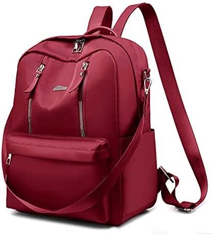 Nylon Backpacks for Women Girl, Large Capacity College Backpack, School Bag with Detachable Strap, Korean Style Waterproof Shoulder Bag, Lightweight Strong Fashion Backpacks Daypack(352814cm)