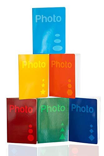 Generico 5 Album Portafoto 10x15 per ospitare 200 Foto 9x13,10x15,11x15. Colori Assortiti