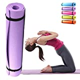 Yoga Mat Non-Slip All Purpose Pilates Exercise Mat Thick for Pilates Fitness Workout