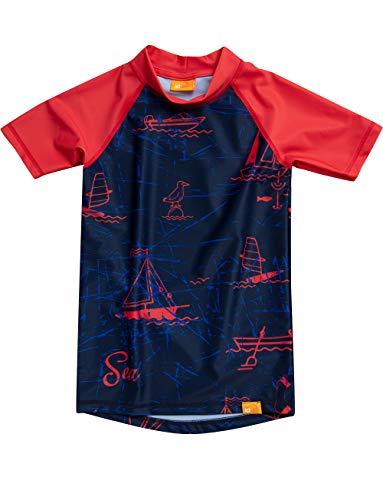 iQ-UV Jungen Strand und Meer Schwimmen Shirt, royalnavy, 128