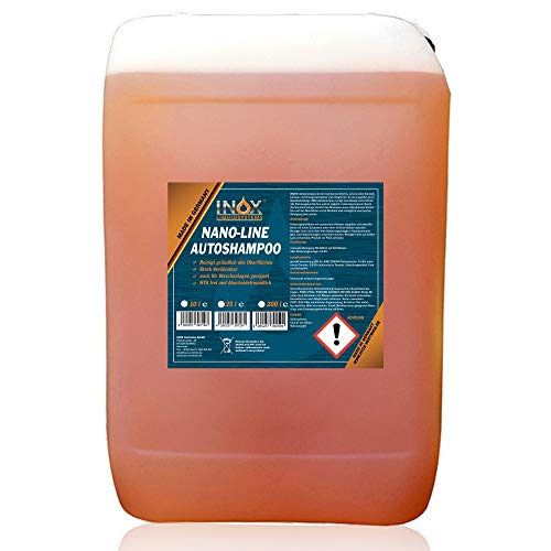 INOX® Nano Line Autoshampoo Konzentrat 25L mit Lotuseffekt - Fahrzeugreiniger Wash & Wax - Für Glanz & Schutz