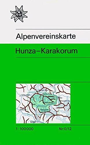 Hunza - Karakorum: Topographische Karte 1:100.000 (Alpenvereinskarten)