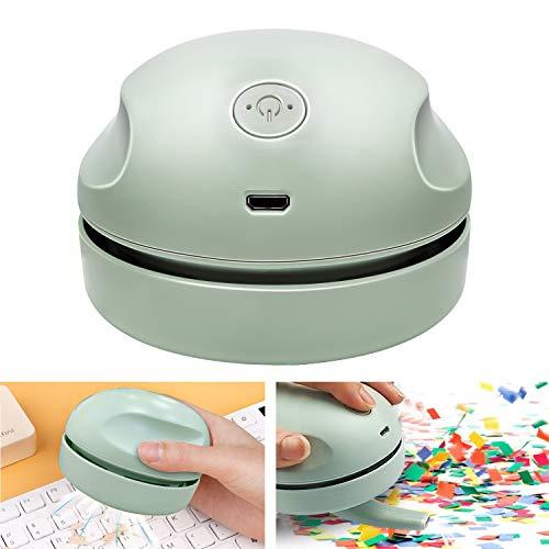 Aspiradora de sobremesa con boquilla de aspiración de cepillo limpio, miniaspiradora desmontable de alta eficiencia...