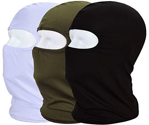 MAYOUTH Sturmhaube Balaclava UV Schutz Gesichtsmasken für Radfahren Outdoor Sports Vollgesichtsmaske Breath (Schwarz+Weiß+Grün)