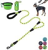 Moonpet Correa para Perro de 6 pies de Alta Resistencia, Doble Mango Reflectante, con cómodo Acolchado – Cuerda de Perro para Perros medianos y Grandes, Color Verde