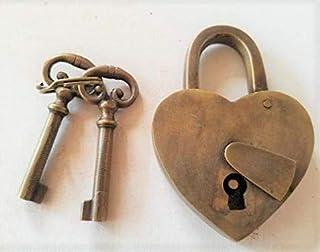 Vintage Love Heart Forever Padlock Skeleton Keys