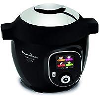 Moulinex Cookeo + Connect olla multi-cocción 6 L 1200 W Negro, Cromo - Ollas multi-cocción (6 L, 1200 W, 6 personas(s), China, Negro, Cromo, Cerámico)